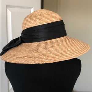 Beautiful straw hat with wide bow